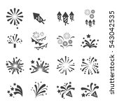 firework icon set | Shutterstock .eps vector #543042535