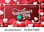valentines day sale background... | Shutterstock .eps vector #543047089