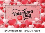valentines day sale background... | Shutterstock .eps vector #543047095