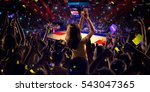 fans on basketball court in... | Shutterstock . vector #543047365