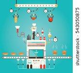 modern illustration of burger... | Shutterstock . vector #543050875