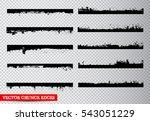 set of grunge edges borders... | Shutterstock .eps vector #543051229