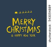 greeting typography of merry... | Shutterstock .eps vector #543054889