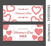 valentine's day gift coupon.... | Shutterstock .eps vector #543055081