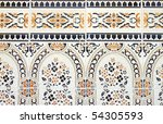 moroccan tile mosaic - stock photo