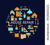 house repair vector line icons  ... | Shutterstock .eps vector #543065221
