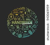 vector hand made icons set  ... | Shutterstock .eps vector #543065959