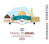 travel to israel  jerusalem...   Shutterstock .eps vector #543067261