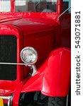 old red fire truck | Shutterstock . vector #543071881