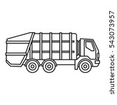 garbage truck icon. outline... | Shutterstock .eps vector #543073957