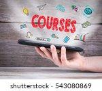 learning concept. tablet... | Shutterstock . vector #543080869