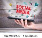 social media concept. tablet... | Shutterstock . vector #543080881