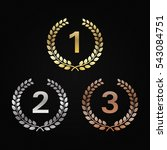 golden  silver and bronze... | Shutterstock .eps vector #543084751