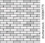 white brick wall vector... | Shutterstock .eps vector #543084775