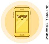 cute smartphone vector icon.... | Shutterstock .eps vector #543084784