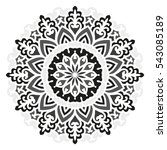 mandala. vector ethnic oriental ...   Shutterstock .eps vector #543085189