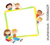 illustration of kids bunner... | Shutterstock .eps vector #543086629