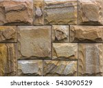 Wall Of Indian Sandstone  With...