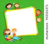 illustration of kids bunner... | Shutterstock .eps vector #543101371
