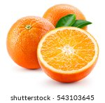 Orange Fruit With Leaves...