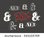 set of decoration ampersands... | Shutterstock .eps vector #543105709