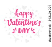 happy valentines day typography ... | Shutterstock .eps vector #543106024