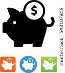piggy bank savings icon | Shutterstock .eps vector #543107659