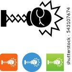 boxing glove on extending arm... | Shutterstock .eps vector #543107674