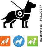 service dog icon | Shutterstock .eps vector #543107977
