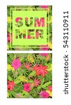 tropical wallpaper with exotic... | Shutterstock . vector #543110911