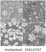 seamless flowers pattern | Shutterstock .eps vector #543113767