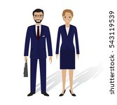 business people male and female.... | Shutterstock .eps vector #543119539
