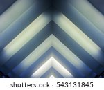 luminous striped structure.... | Shutterstock . vector #543131845