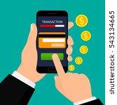 money transaction  business ... | Shutterstock .eps vector #543134665