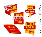 set of sale banners. red and... | Shutterstock .eps vector #543139255