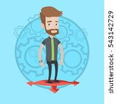 hipster young businessman... | Shutterstock .eps vector #543142729