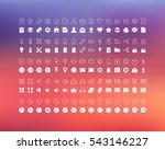 set vector line icons in flat... | Shutterstock .eps vector #543146227
