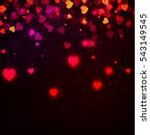 valentine's day background with ... | Shutterstock . vector #543149545