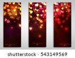 beautiful greeting cards with... | Shutterstock . vector #543149569