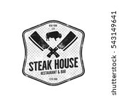 steak house vintage label.... | Shutterstock .eps vector #543149641