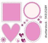 romantic vector label or frame... | Shutterstock .eps vector #54315289