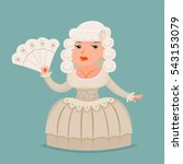 noble medieval lady aristocrat... | Shutterstock .eps vector #543153079