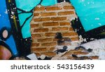 Small photo of backgrounds,art,in-thailand,texture,color,adverb,wall