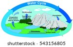 vector water cycle in nature... | Shutterstock .eps vector #543156805