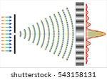 single slit diffraction   Shutterstock .eps vector #543158131