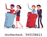business people carring away... | Shutterstock .eps vector #543158611