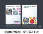 business vector. brochure... | Shutterstock .eps vector #543161119