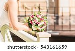 nice wedding bouquet in bride's ... | Shutterstock . vector #543161659
