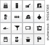 set of 16 editable meal icons....