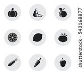 set of 9 editable kitchenware...